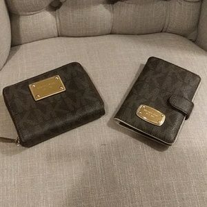 Two Michael kors wallets Authentic